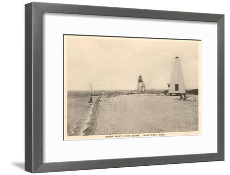 Brant Point Lighthouse, Nantucket, Massachusetts--Framed Art Print
