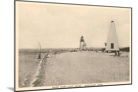 Brant Point Lighthouse, Nantucket, Massachusetts--Mounted Art Print