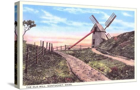 Old Mill, Nantucket, Massachusetts--Stretched Canvas Print