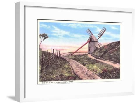 Old Mill, Nantucket, Massachusetts--Framed Art Print