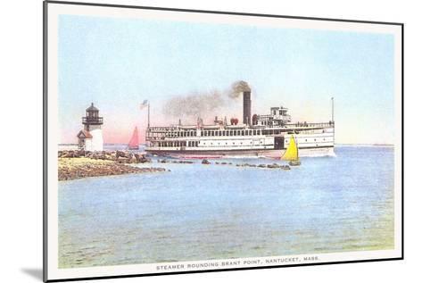 Steamer Rounding Brant Point, Nantucket, Massachusetts--Mounted Art Print