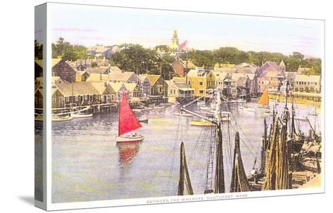 Between the Wharves, Nantucket, Massachusetts--Stretched Canvas Print