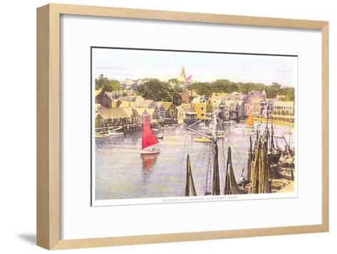 Between the Wharves, Nantucket, Massachusetts--Framed Art Print