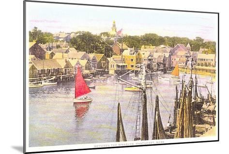 Between the Wharves, Nantucket, Massachusetts--Mounted Art Print