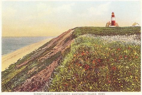 Sankaty Lighthouse, Siasconset, Nantucket, Massachusetts--Stretched Canvas Print