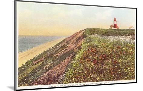Sankaty Lighthouse, Siasconset, Nantucket, Massachusetts--Mounted Art Print