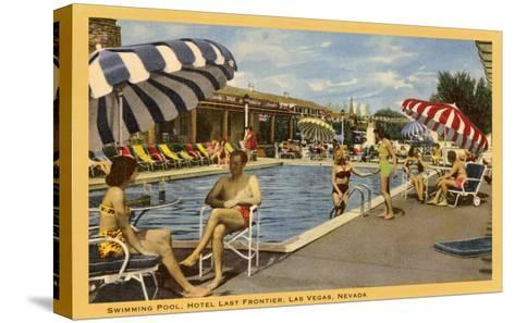 Pool, Hotel Last Frontier, Las Vegas, Nevada--Stretched Canvas Print