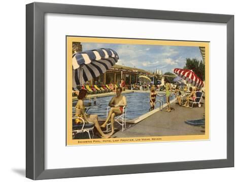 Pool, Hotel Last Frontier, Las Vegas, Nevada--Framed Art Print