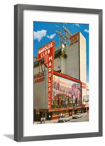 Harold's Club, Reno, Nevada--Framed Art Print
