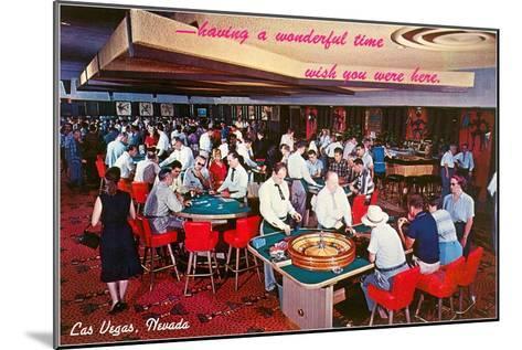 Casino Scene in Las Vegas, Nevada--Mounted Art Print