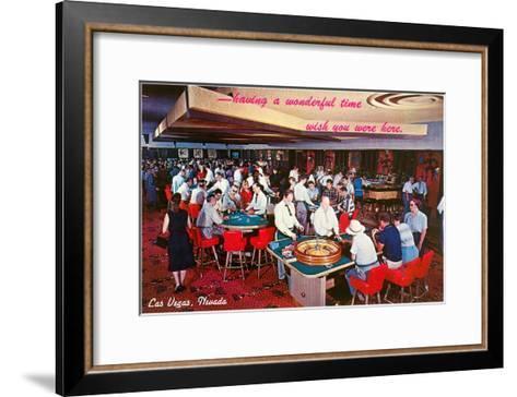 Casino Scene in Las Vegas, Nevada--Framed Art Print