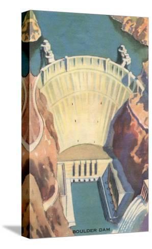 Boulder Dam, Nevada--Stretched Canvas Print