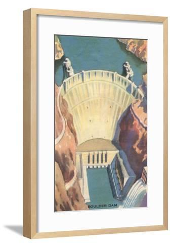 Boulder Dam, Nevada--Framed Art Print