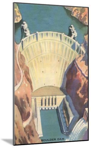 Boulder Dam, Nevada--Mounted Art Print