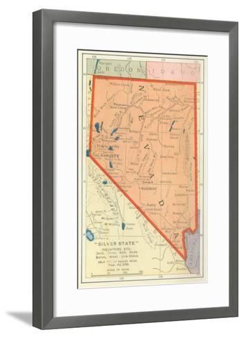 Map of Nevada--Framed Art Print