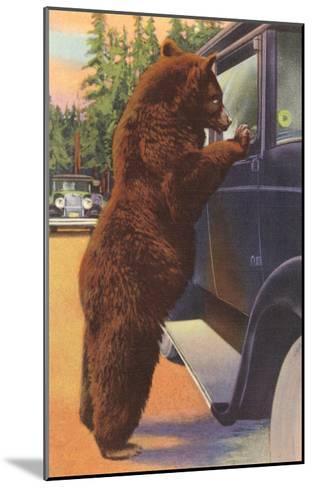 Bear at Car Window--Mounted Art Print