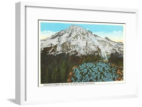 Phlox on Mt. Rainier, Washington--Framed Art Print