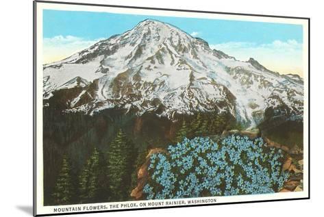 Phlox on Mt. Rainier, Washington--Mounted Art Print