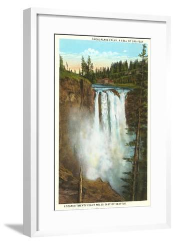 Snoqualmie Falls, Washington--Framed Art Print