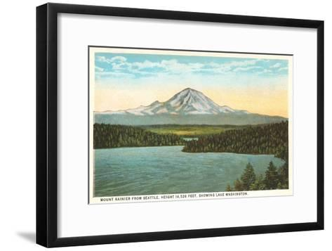 Mt. Rainier, Washington--Framed Art Print