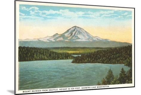 Mt. Rainier, Washington--Mounted Art Print