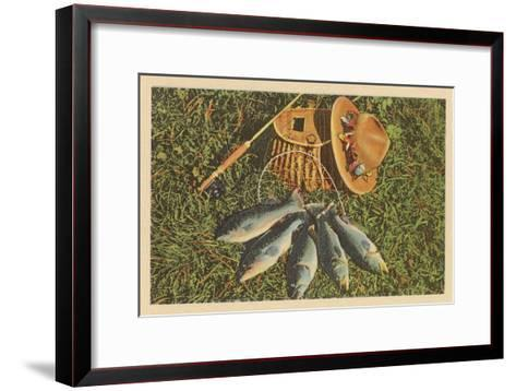 Trout by Creel--Framed Art Print