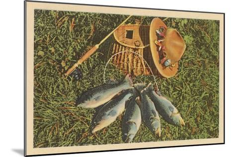 Trout by Creel--Mounted Art Print