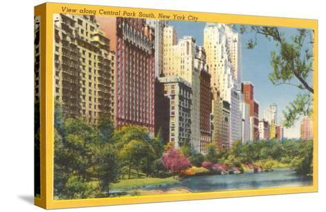 View along Central Park South, New York City--Stretched Canvas Print