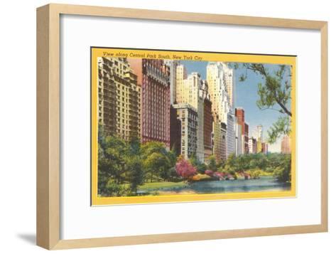 View along Central Park South, New York City--Framed Art Print