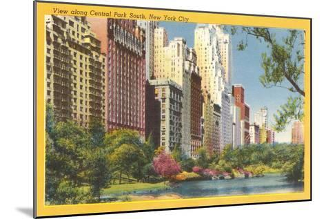 View along Central Park South, New York City--Mounted Art Print