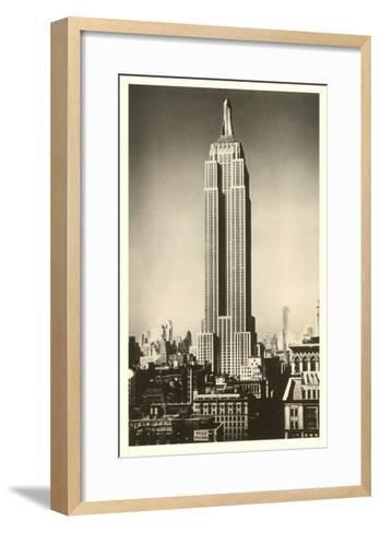 Empire State Building, New York City--Framed Art Print