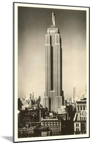Empire State Building, New York City--Mounted Art Print