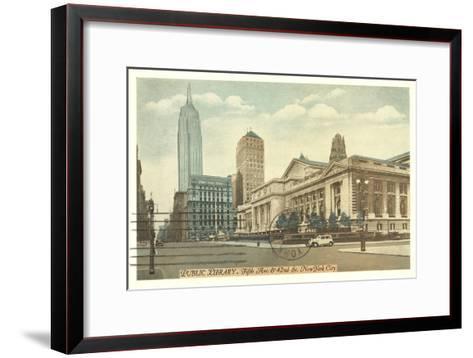 Public Library, New York City--Framed Art Print