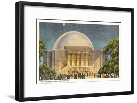 Hayden Planetarium, New York City--Framed Art Print