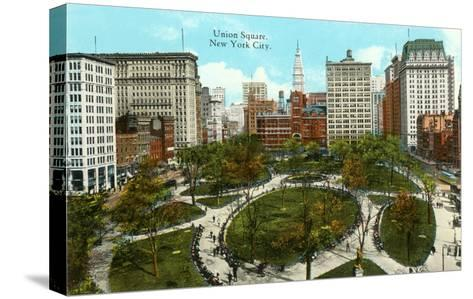 Union Square, New York City--Stretched Canvas Print