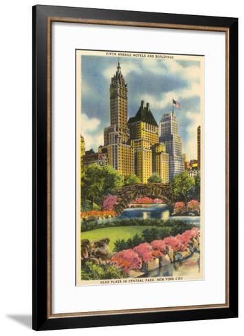 Buildings near Fifth Avenue, Central Park, New York City--Framed Art Print
