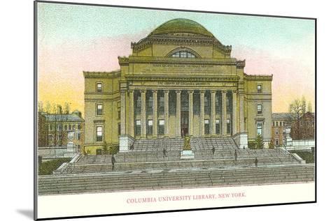 Library, Columbia University, New York City--Mounted Art Print