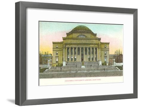 Library, Columbia University, New York City--Framed Art Print