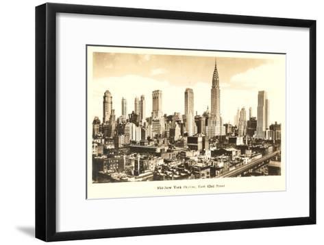Midtown Skyline, New York City--Framed Art Print