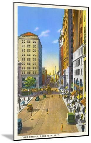 Court Street, Brooklyn, New York City--Mounted Art Print