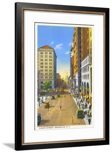 Court Street, Brooklyn, New York City--Framed Art Print