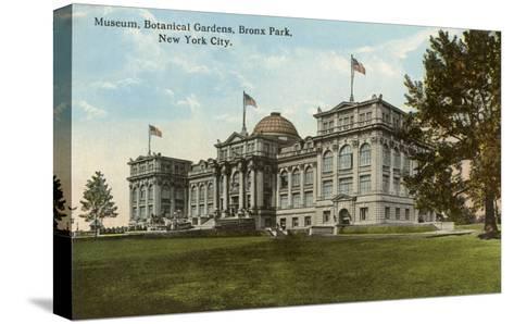 Museum, Botanical Gardens, Bronx Park, New York City--Stretched Canvas Print