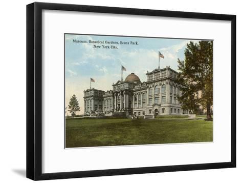Museum, Botanical Gardens, Bronx Park, New York City--Framed Art Print