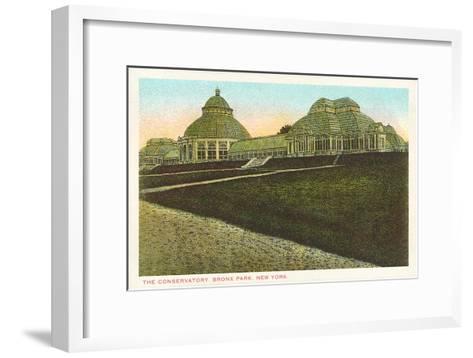 Conservatory, Bronx Park, New York City--Framed Art Print