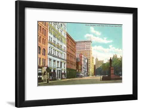 Union Square, New York City--Framed Art Print