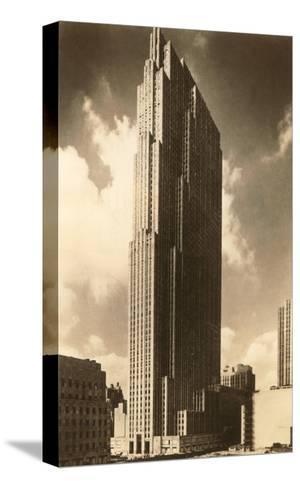 Rockefeller Center, New York City--Stretched Canvas Print