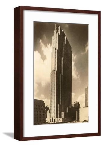 Rockefeller Center, New York City--Framed Art Print