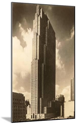 Rockefeller Center, New York City--Mounted Art Print