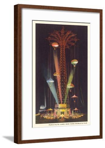 Parachute Jump, New York World's Fair--Framed Art Print