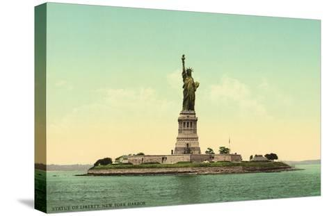 Statue of Liberty, New York Harbor--Stretched Canvas Print